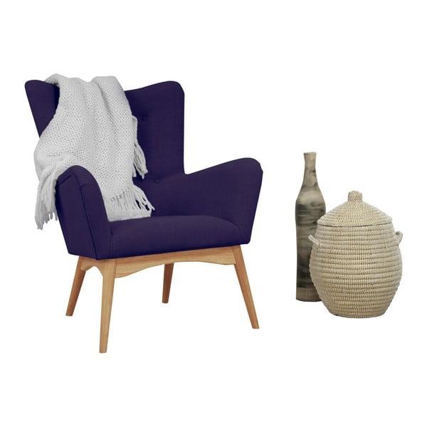 Fioletowy fotel Helga Interiors Karl