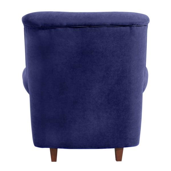 Ciemnoniebieski fotel Max Winzer Vicky Velor
