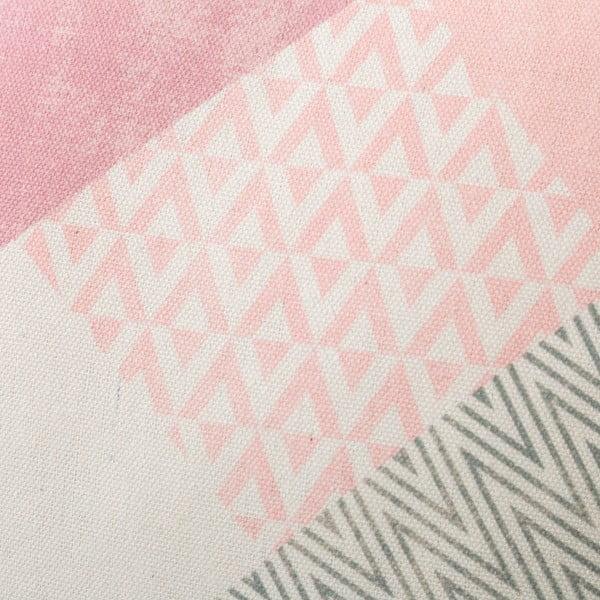 Zestaw 2 różowych poduszek bawełnianych Unimasa Cube, 45x45 cm