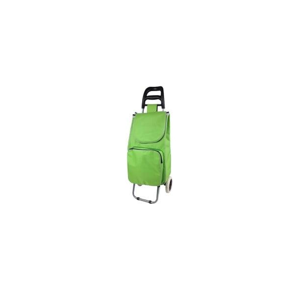 Zielony wózek na zakupy z kieszonką termiczną JOCCA
