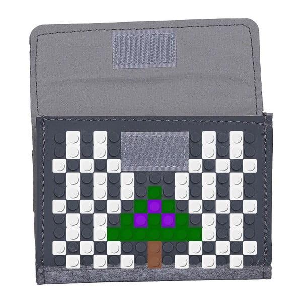 Pikselowy portfel, szary