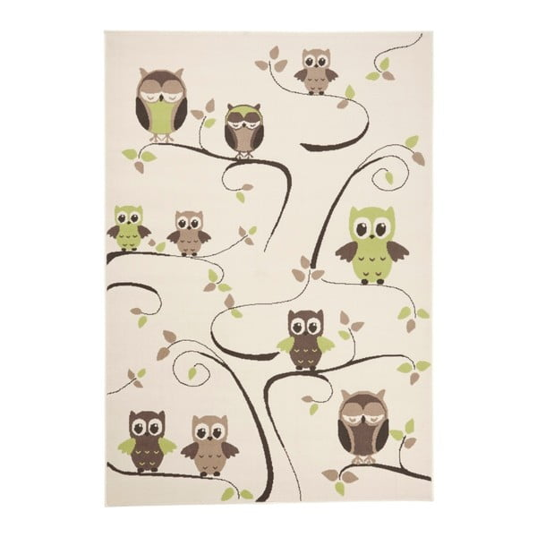 Czerwono-brązowy dywan dziecięcy Zala Living Owl, 140x200 cm