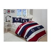 Pościel na łóżko dwuosobowe z prześcieradłem Beverly Hills Polo Club Fleming, 200x220cm