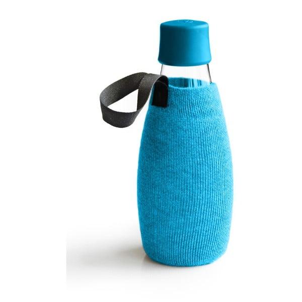 Jasnoniebieski pokrowiec na szklaną butelkę ReTap z dożywotnią gwarancją, 500 ml