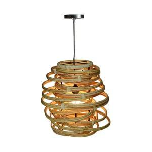 Rattanowa lampa wisząca Bluebone Twister,Ø45cm