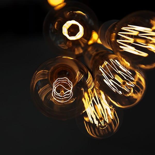 Pięć wiszących kabli Uno, żółte/czarne