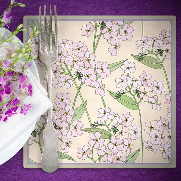 Zestaw 2 mat stołowych Spring Flower, 20x20 cm