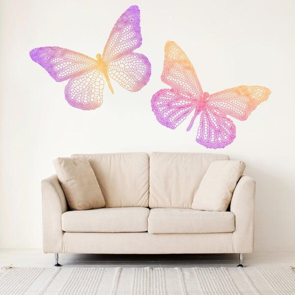 Naklejka na ścianę Kolorowe motyle, 60x90 cm