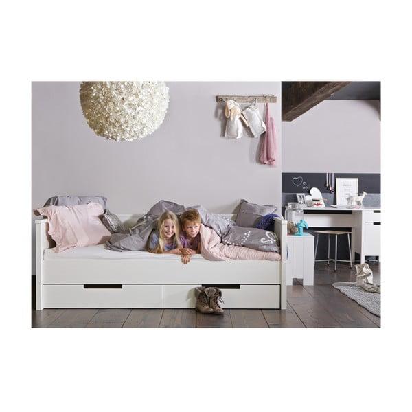 Białe łóżko/sofa Jade 90x20 cm