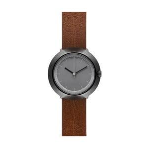 Zegarek Grey Fuji Brown Leather, 43 mm