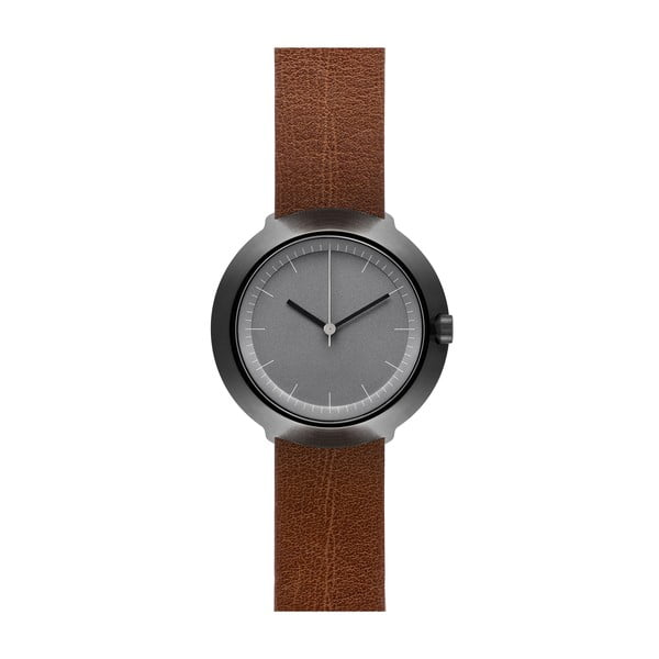 Zegarek Grey Fuji Brown Leather, 43 mm