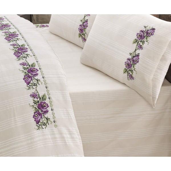 Zestaw pościeli Purple Rose, 210x230 cm