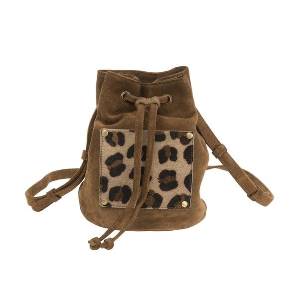 Plecak zamszowy O My Bag Leopard, beżowy
