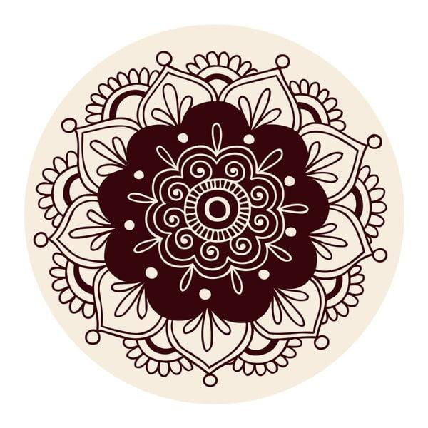 Naklejki Mandala, brown, 4 szt.