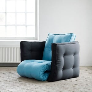 Fotel rozkładany Karup Dice Horizon Blue/Gray