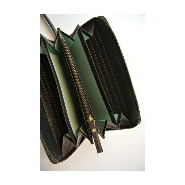 Skórzany portfel Miss Moneypenny, ciemnobrązowy