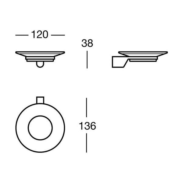 Mydelniczka Chromo Soap, 12x3,8x13,6 cm