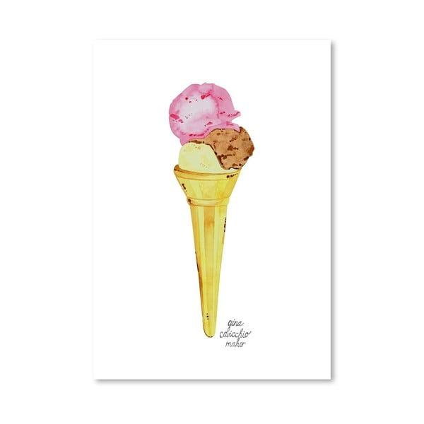 Autorski plakat Icecream Cone, 30x42 m