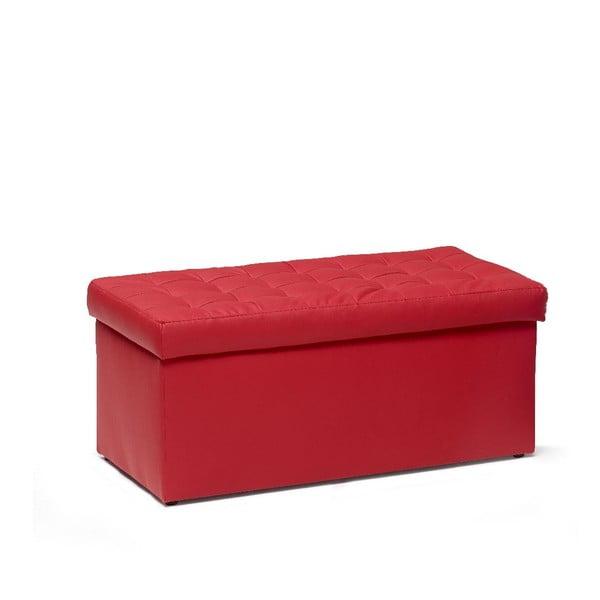 Puf ze schowkiem Silvia 90 cm, czerwony