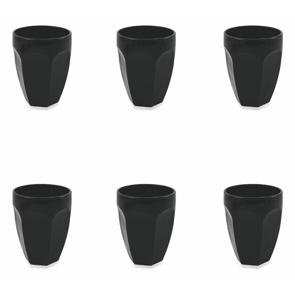 Zestaw 6 czarnych szklanek Villa d'Este Wonderland