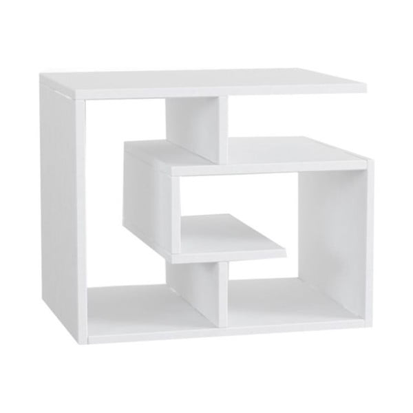 Biały stolik z półkami Labirent
