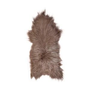Jasnobrązowa skóra owcza z długim włosiem, 110x60 cm