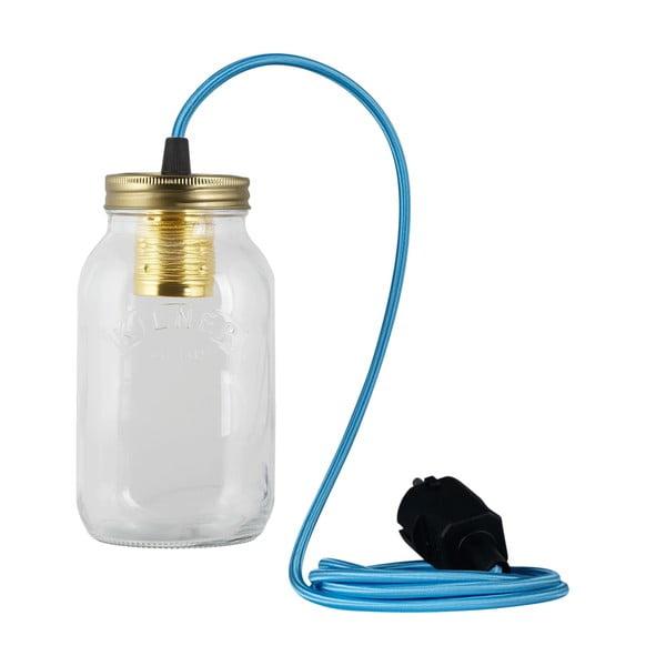 Lampa JamJar Lights, niebieski okrągły kabel