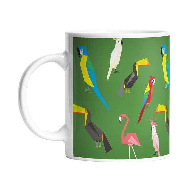 Kubek ceramiczny Exotic Birds, 330 ml