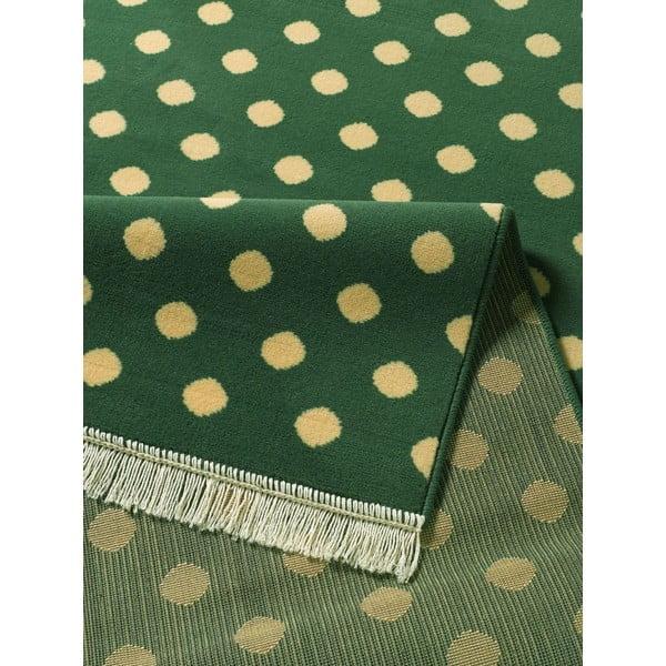 Zielony dywan Hanse Home Fringe, 140 x 200 cm
