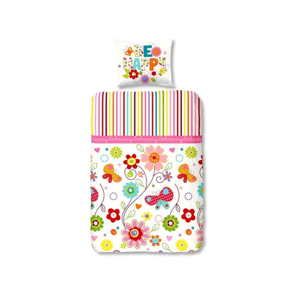 Pościel dziecięca flanelowa Muller Textiel Happy, 135x200 cm
