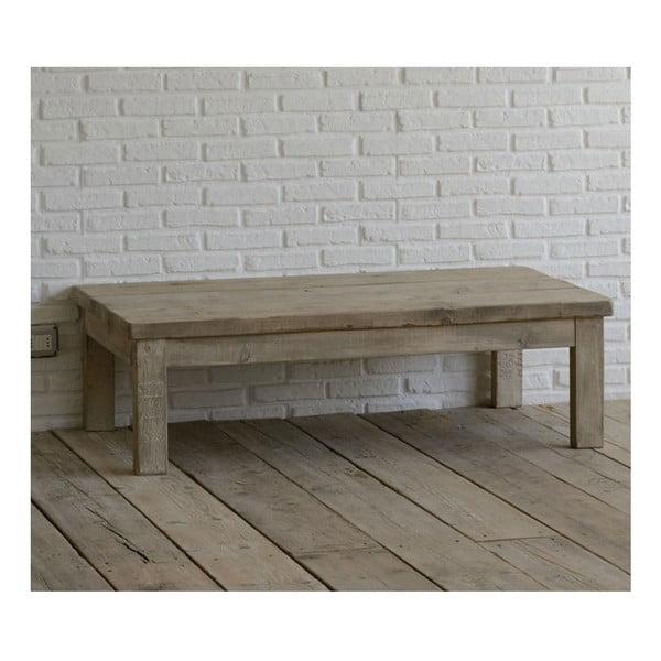 Stolik z drewna pozyskanego z recyklingu Old Wood, 75x130 cm