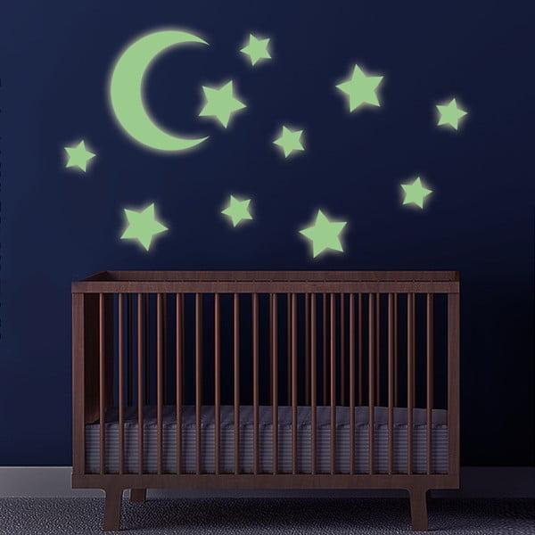Naklejka ścienna Księżyc i gwiazdy, 60x30 cm