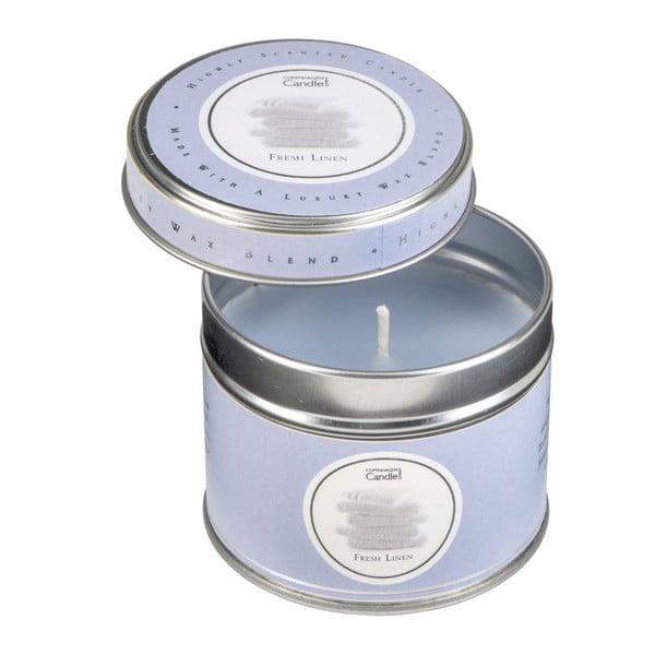 Świeczka w puszcze o zapachu świeżego prania Copenhagen Candles, 32 godz.