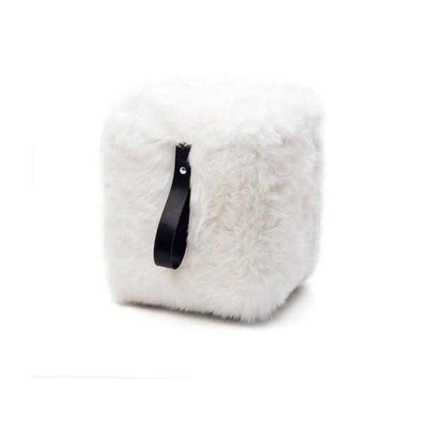Biało-czarny   graniasty puf Royal Dream