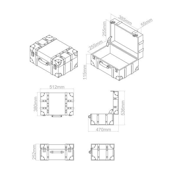 Zestaw 3 pudeł Bergman