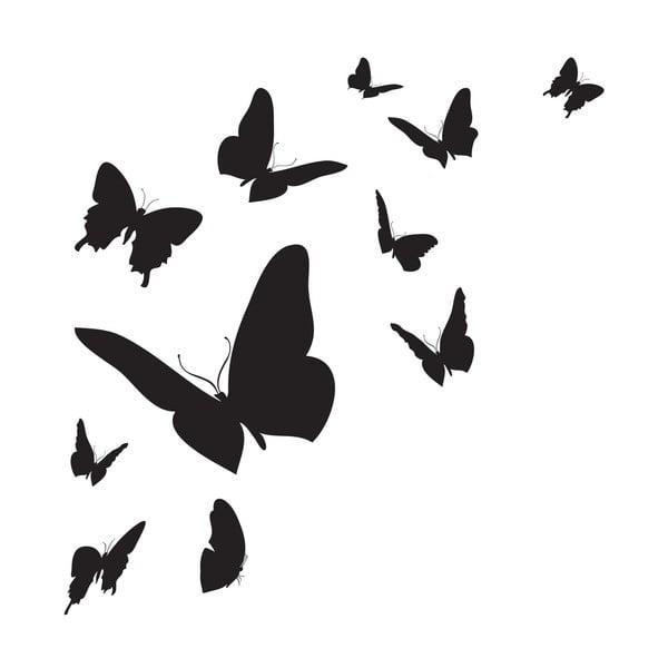 Naklejka ścienna Butterfly Silhouette