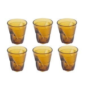 Zestaw 6 szklanek Kaleidos 225 ml, bursztynowy
