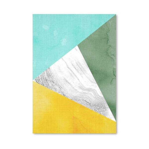 Plakat Geometric Mint Yellow