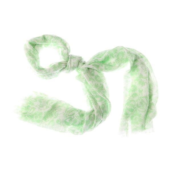 Szalik Smudge Green, 180x55 cm