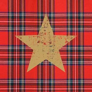 Opakowanie 20 serwetek papierowych ze świątecznym motywem PPD Tartan Star Red
