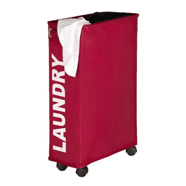 Czerwony kosz na pranie Wenko Como