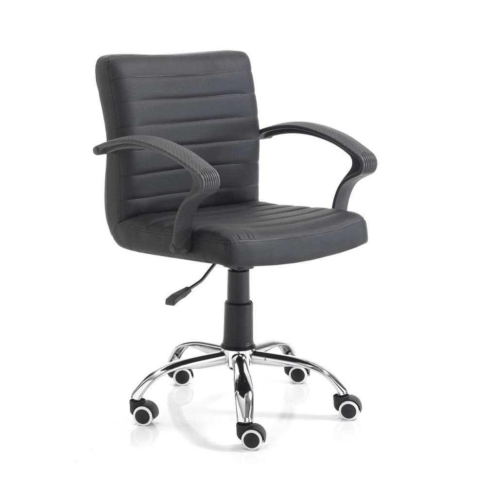 Czarne krzesło biurowe na kółkachTomasucci Pany