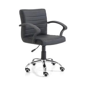 Czarne krzesło biurowe Tomasucci Pany