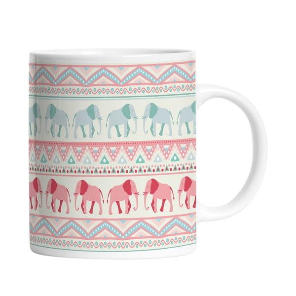 Ceramiczny kubek Lucky Elephants, 330 ml