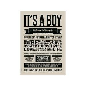 Plakat autorski It's Boy, A3