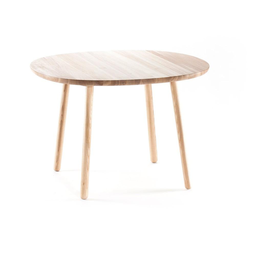 Naturalny stół do jadalni z litego drewna EMKO Naïve, ⌀ 110 cm