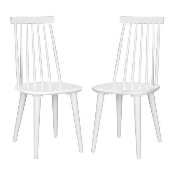 Zestaw 2 krzeseł Accent White
