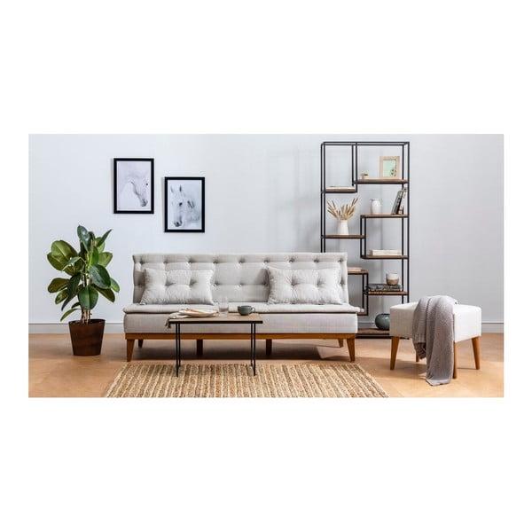 Kremowa sofa rozkładana Aristea