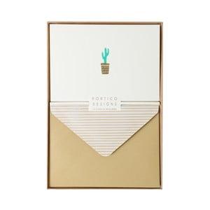Zestaw   10 kart okolicznościowych Portico Designs FOIL Cactus