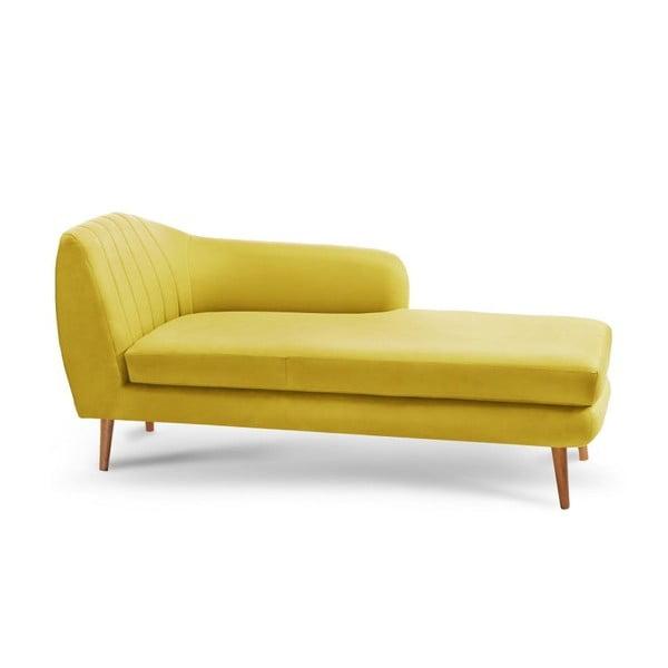 Żółty szezlong prawostronny Scandi by Stella Cadente Maison
